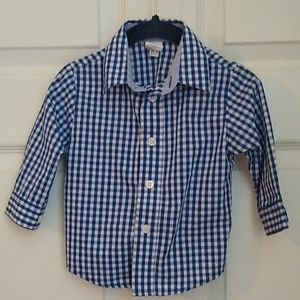 Starting Out- Button Down Long-Sleeve Shirt, 18 mo